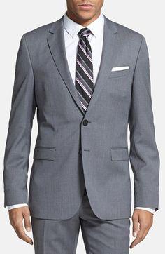 BOSS HUGO BOSS 'Ryan/Win' Extra Trim Fit Stripe Suit | Nordstrom @Joseph Riendeau