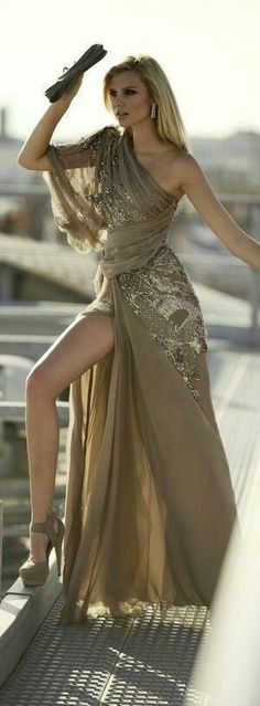 Champagne glitter gown