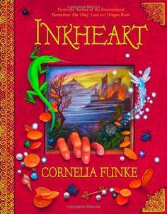 INK HEART BY CORNELIA FUNKE  book cover (novel, book jacket, art, illustration, photography, publishing)