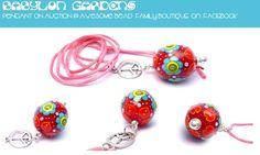Babylon Gardens Focal Bead Pendi  by Carla di Francesco on auction @ awesome bead family Boutique on facebook