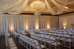 #ceremony #drape #uplighting #boydsevents #love Wedding Events, Weddings, Draping, Curtains, Ideas, Home Decor, Homemade Home Decor, Mariage, Wedding