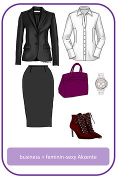 Stil-Mix-Outfit: Business-Outfit mit sexy Akzenten