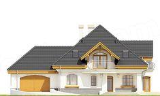 Elewacja frontowa projektu Dzierlatka III styl z garażem 2-st. [A]