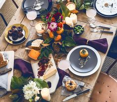 Magnolia garland on a holiday table.