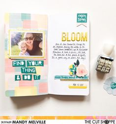 Today I'm sharing a traveler's notebook spread that I created using the new 'Fresh Air' printable collection from @thecutshoppe! For closeups and more details, pop on over to my blog! #thecutshoppe #thecutshoppedesignteam #cratepaper #travelersnotebook #scrapbooklayout