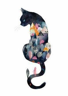Art and illustration Art And Illustration, I Love Cats, Crazy Cats, Cute Cats, Adorable Kittens, Cat Drawing, Cat Art, Illustrators, Stuffed Animals