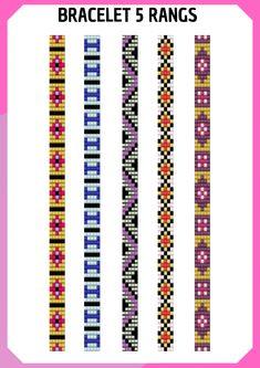 Loom Bracelet Patterns, Seed Bead Patterns, Bead Loom Bracelets, Woven Bracelets, Jewelry Patterns, Beading Patterns, Beard Jewelry, Bead Loom Designs, Handmade Rakhi