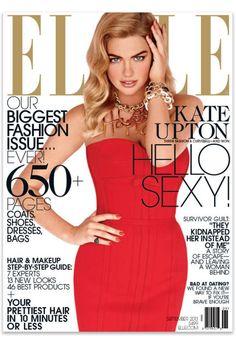 Kate Upton's cover shoot for ELLE's September 2013 issue