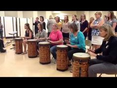 """Nice performance--everyone gets a chance to play the """"big"""" drums."""