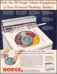 1958 #Norge #Washer  Shared by www.activeappliances.com