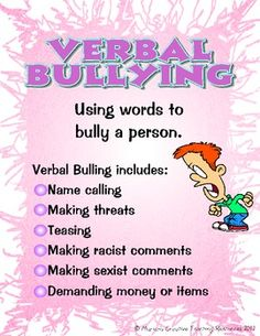 These bullying posters are a visual and descriptive way to explain the different forms of bullying. Posters include:* What is Bullying* Verbal Bullying* Social Bullying* Cyber Bullying* Physical Bullying***American version available. Verbal Bullying, What Is Bullying, Stop Bullying Now, Bullying Lessons, Anti Bullying, Bullying Bulletin Boards, Drop Cloth Slipcover, Bullying Posters, Learned Helplessness
