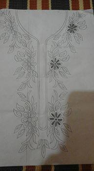 رشمات الطرز للقفطان والقندورة أجمل الموديلات الجديدة . للإستفادة Hand Embroidery Design Patterns, Doily Patterns, Couture Embroidery, Embroidery Kits, Designs To Draw, Hand Stitching, Pattern Design, Drawings, Molde