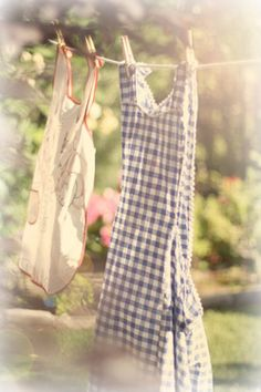 Summer afternoon laundry day