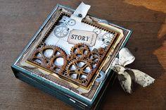 Beautiful minibook.  (Cathyscrap85)