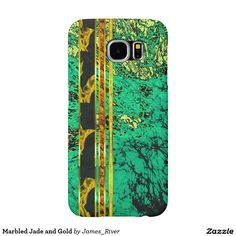 Marbled Jade and Gold Samsung Galaxy S6 Case