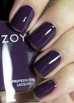 The Nail Network: Zoya Designer Collection. This is Monica, a dark purple eggplant creme.