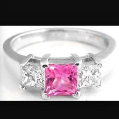 Pink diamond engagement ring, another choice xxx