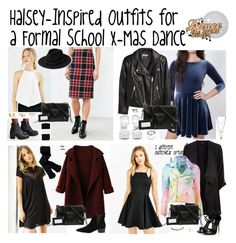 """""""Halsey-Inspired Outfits for a Formal School X-Mas Dance"""" by halseys-clothes ❤ liked on Polyvore featuring BB Dakota, Silence + Noise, Sixtyseven, Balenciaga, Falke, MANGO, H&M, Wet Seal, Nly Shoes and Vince Camuto"""