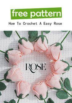 A Easy Rose Free Crochet Pattern
