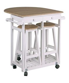 Kitchen Cart & Stools Set #zulily #zulilyfinds
