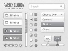 Partly Cloudy UI Kit