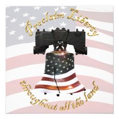Liberty Bell w/American Flag - Proclaim Freedom Announcement #4THOFJULY #INDEPENDENCEDAY #redwhiteandblue #patriotic #USA