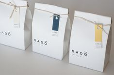 packaging / Sado Tea - Emma Goddard Portfolio - The Loop Packaging Box, Bakery Packaging, Simple Packaging, Cookie Packaging, Food Packaging Design, Packaging Design Inspiration, Brand Packaging, Tee Design, Food Design