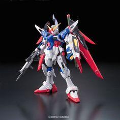 Scale RG Destiny Gundam by Bandai Action Toys, Action Figures, Gundam Build Fighters Try, Gundam Toys, Alex Toys, Gundam Seed, Going For Gold, Emergency Equipment, Gundam Model