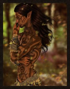 Wild Elf by =Mavrosh on deviantART  Great example of a Barren Brassen wild elf of Ihkten