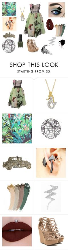 """""""Mysterious Swamp In The Village"""" by galaxy-moon-stars ❤ liked on Polyvore featuring Antonio Marras, Osborne & Little, Gucci and NYX"""