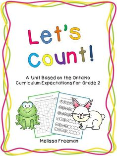 This counting unit covers the counting expectations for Grade 2 from the Number Sense and Numeration strand.  It includes lesson ideas, worksheets, a quiz, and 12 task cards.