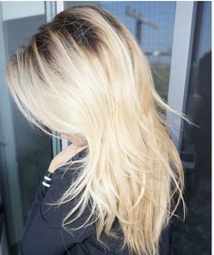 #blonde with dark roots
