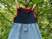 Mädchen Kleid in Größe 74 , blaugestreift