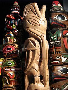 Williams totem poles Nootka by wightmagik, via Flickr