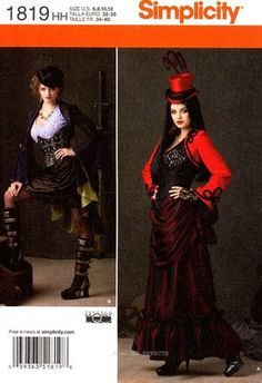 Simplicity Pattern 1819HH #SteamPunk Inspired Costume. $9.00, via Etsy. Short one!