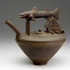 TIM MATHER Glazed stoneware teapot with fish handl (10/01/2007)