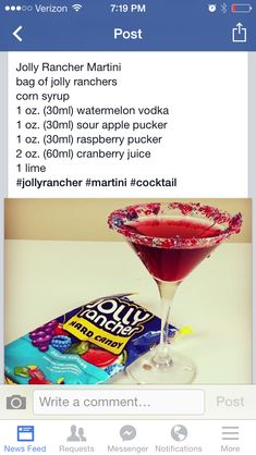 From the Tipsy Bartender on FB