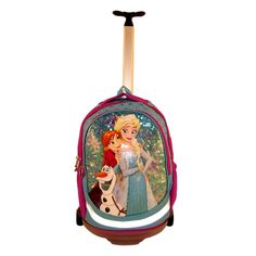 Troler cu 2 roti, mecanism metalic care se poate detasa pentru a rezulta un ghiozdan ergonomic Suitcase, Frozen, Barbie, Backpacks, Metal, Bags, Handbags, Backpack, Metals