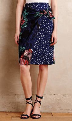 Petal-Pop Wrap Skirt #anthroregistry