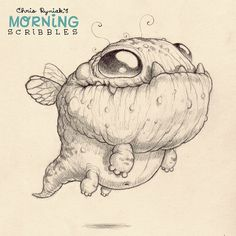 chrisryniak:  Little buzzy Bugdragon. #morningscribbles