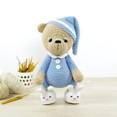 PATTERN: Sleepy Teddy Bear in Pajamas and Bunny by KristiTullus