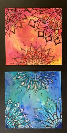 This product contains two mandala lessons.The first is a simple mandala using sharpie marker with the option to add colored pencil or colored marker accents. Watercolor And Sharpie, Watercolor Mandala, Watercolor Projects, Sharpie Art, Sharpie Doodles, Watercolor Painting, Mandala Art Lesson, Mandala Drawing, Mandala Painting