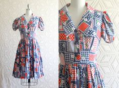 1970s cottage style with patchwork floral Puffy by Liyasvintage, $30.00
