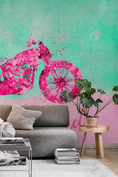 Born To Be Wild wall mural from Happywall #wallpapers #rider #art #pattern #hand #yellow #color #vehicle #colorful #fancy #artistic #motorbike #wallpaper #orange #wallmural #watercolor #happy #biker #style #painting #hippie #artsy #wild #bikerider #pink #artwork #wallmurals #creative #funny #illustration #easy #retro #blossom #painted #floral #paint #motorcycle #happywall