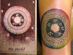 the wild unknown the world tarot tattoo