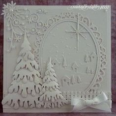 A Scrapjourney: All in White Whie christmas card using dies