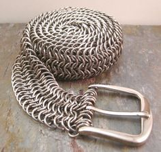 Stainless+Steel+Chainmaille+Belt+Euro+61+by+CreativeReflections,+$119.00