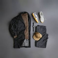 No automatic alt text available. Hipster Outfits, Classy Outfits, Stylish Outfits, Outfit Grid, Dapper Men, Outfit Combinations, Streetwear Fashion, Casual Chic, Menswear