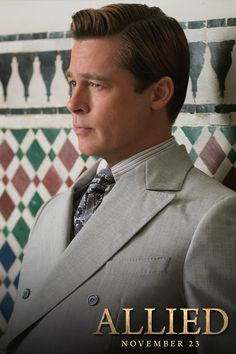 Every detail matters behind enemy lines. Brad Pitt in Allied November 23rd. Directed by Robert Zemeckis. #Allied