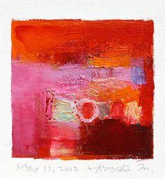 May 11 2012  Original Abstract Oil Painting  by hiroshimatsumoto, $60.00